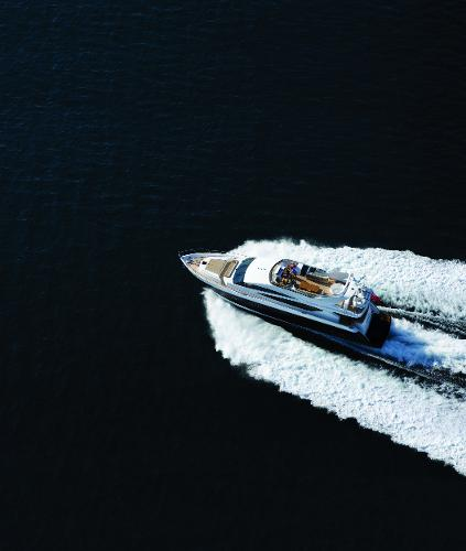 Princess Flybridge 85 Motor Yacht View From Above