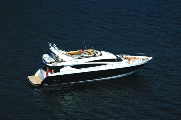 Princess Flybridge 85 Motor Yacht Side Shot