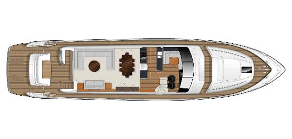 Princess Flybridge 82 Motor Yacht Deck Layout