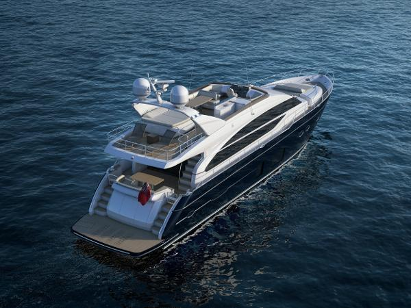 Princess Flybridge 82 Motor Yacht Stern