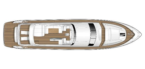 Princess Flybridge 82 Motor Yacht Flybridge Layout