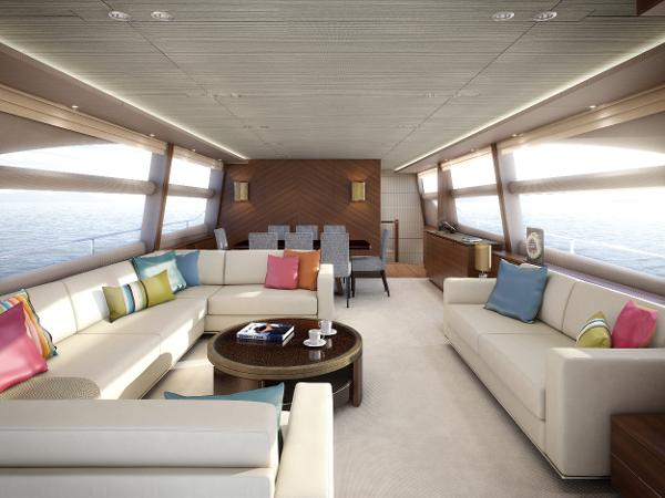 Princess Flybridge 82 Motor Yacht Saloon