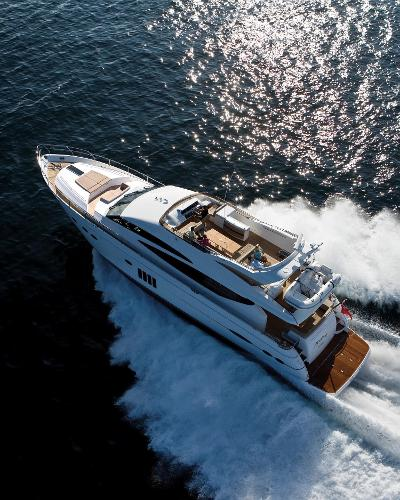 Princess Flybridge 78 Motor Yacht View From Above