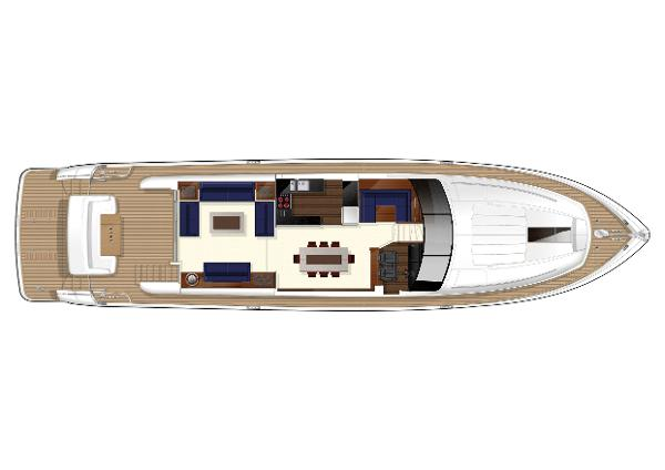 Princess Flybridge 78 Motor Yacht Deck LAyout