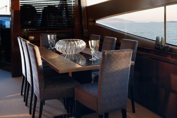 Princess Flybridge 78 Motor Yacht Dining Area