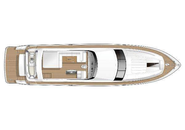 Princess Flybridge 78 Motor Yacht Flybridge Layout
