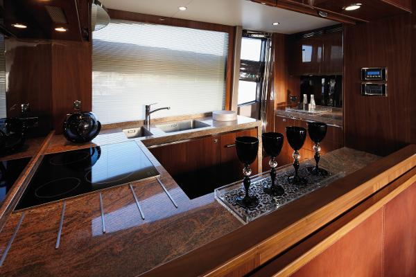 Princess Flybridge 78 Motor Yacht Galley