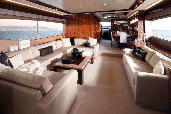 Princess Flybridge 78 Motor Yacht Saloon