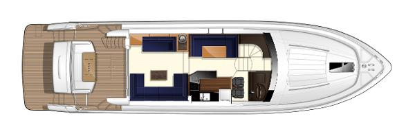 Princess Flybridge 64 Motor Yacht Upper Deck Layout