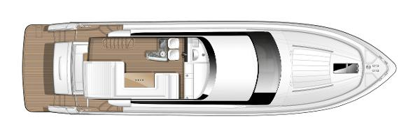 Princess Flybridge 64 Motor Yacht Flybridge Layout