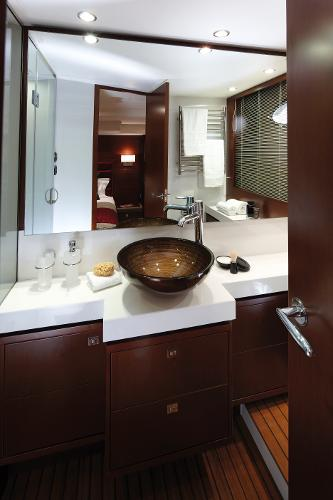 Princess Flybridge 64 Motor Yacht Master Stateroom Bathroom