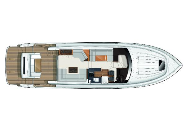 Princess Flybridge 60 Motor Yacht Upper Accommodation Layout