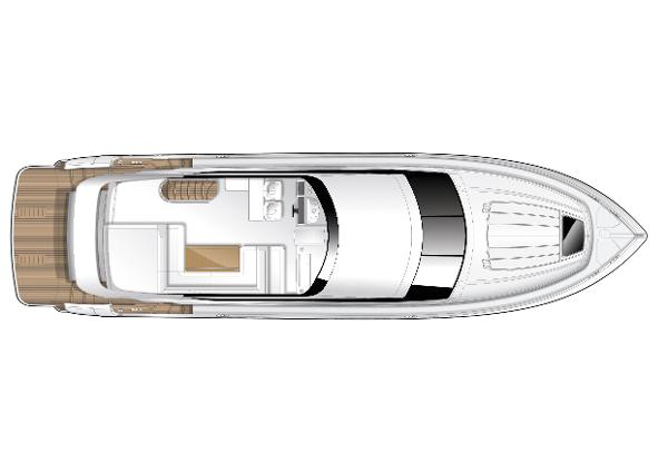 Princess Flybridge 60 Motor Yacht Flybridge Layout