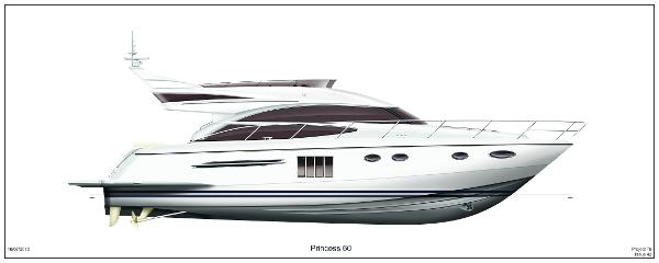 Princess Flybridge 60 Motor Yacht Profile White Hull
