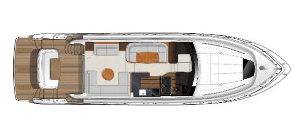 Princess Flybridge 56 Motor Yacht Upper Accommodation Layout