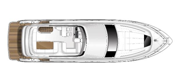 Princess Flybridge 56 Motor Yacht Flybridge Layout