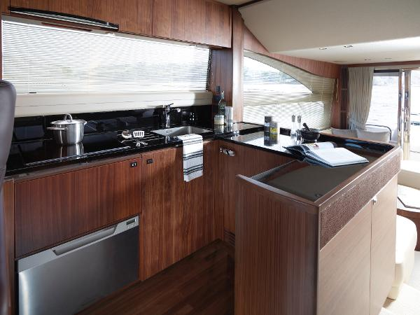 Princess Flybridge 56 Motor Yacht Galley