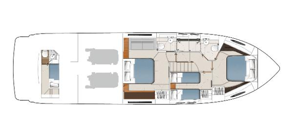 Princess Flybridge 56 Motor Yacht Lower Accommodation Layout
