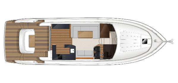 Princess Flybridge 52 Motor Yacht Main Deck Layout