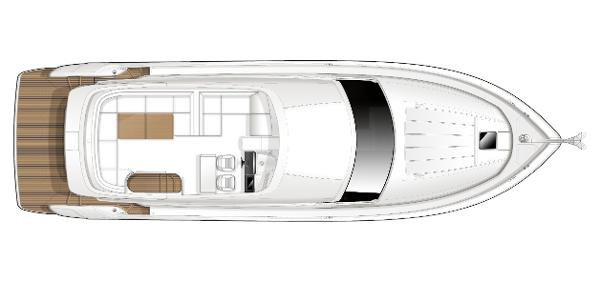 Princess Flybridge 52 Motor Yacht Flybridge Layout