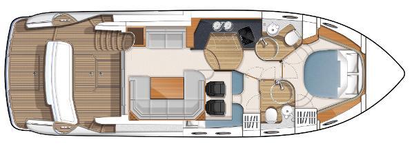 Princess Flybridge 42 Motor Yacht Lower Accomodation Layout