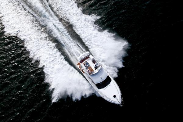 Princess Flybridge 42 Motor Yacht View From Above