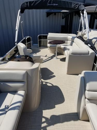 2019 24 foot South Bay Pontoon Boat for Sale at Captain's Marine in Kalispell, Montana 115 HP Yamaha Motor