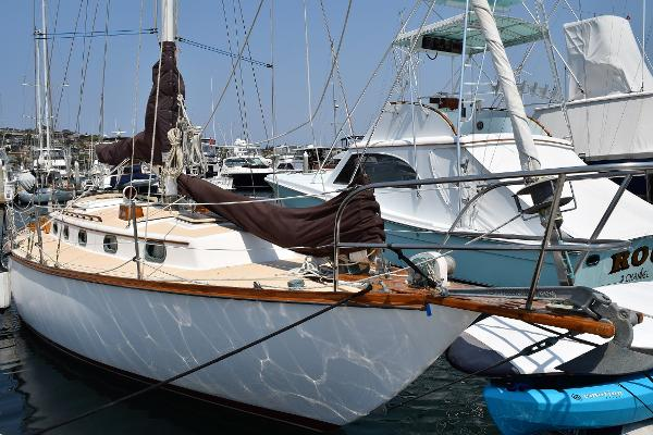 Cape Dory 36 Starboard side at dock
