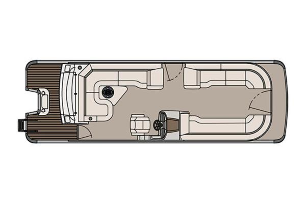 Tahoe Cascade Platinum Rear J Lounger - 27'