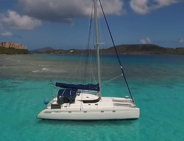 Fountaine Pajot Venezia 42 Whisper at anchor