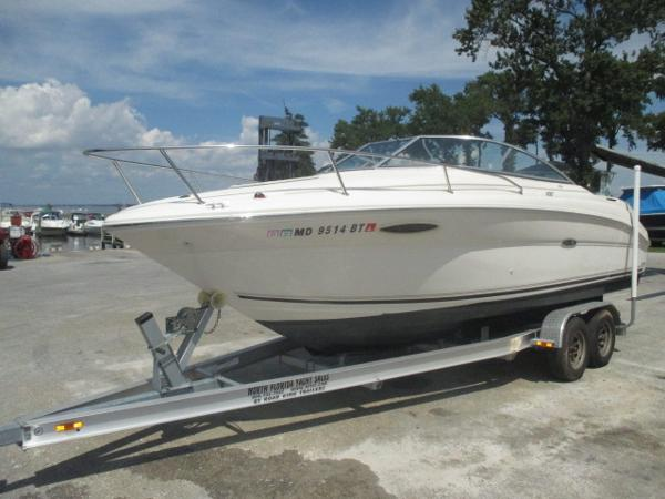 Sea Ray 215 Weekender Port Bow On Trailer