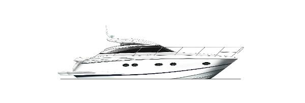Princess V42 Profile White Hull