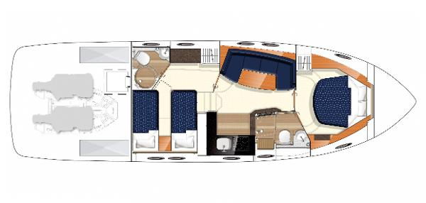 Princess V42 Lower Accommodation Layout