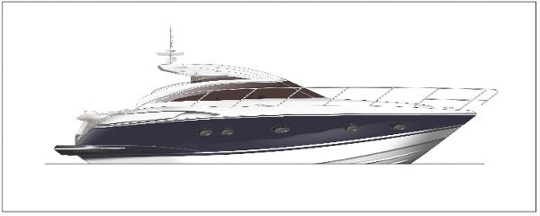 Princess V42 Profile Blue Hull
