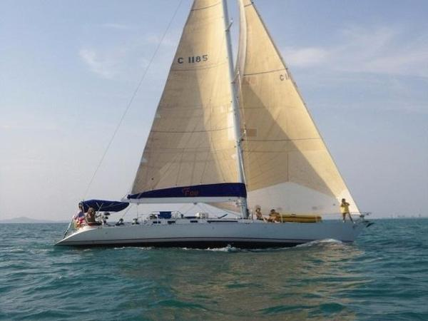 Beneteau First 51S Sailing yacht under sail