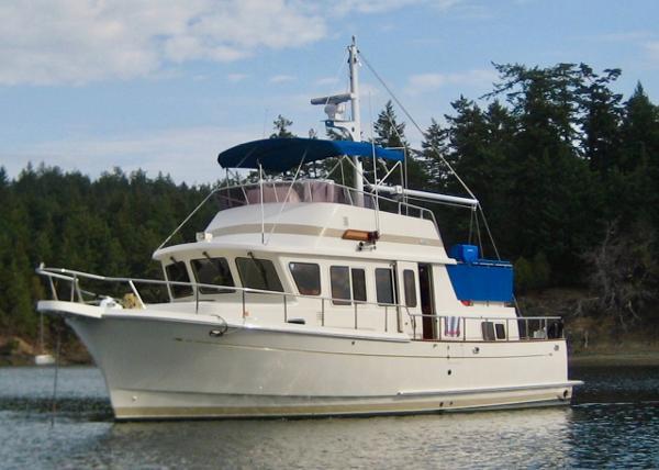 Selene Archer 36 Port side at anchor