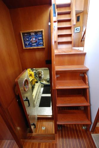 Steps Down From Pilothouse To Engine Room