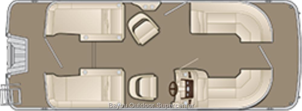Bennington 22 SCWX  (Metallic White/Smokey Gray Accent-w/Yamaha F115LB)
