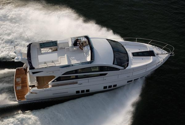 Fairline Squadron 50 Aerial Shot
