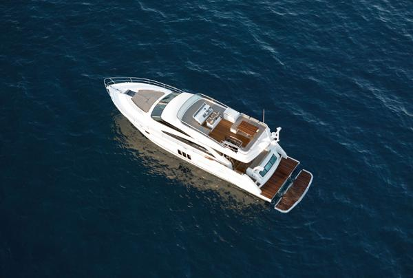 Fairline Squadron 60 Aerial Shot