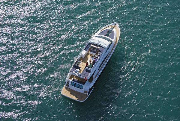Fairline Squadron 65 Aerial Shot