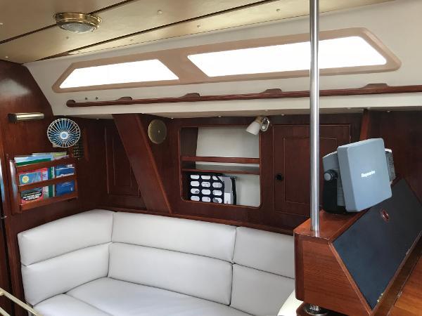 CS 40 Starboard side of salon