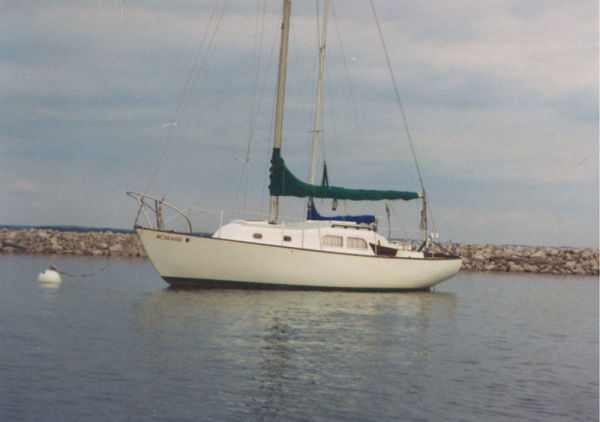 Pearson Renegade Port side on her mooring