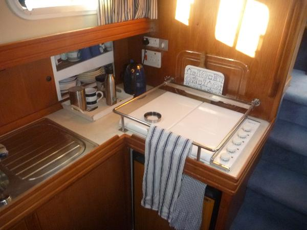 Talisman 49 - galley looking aft