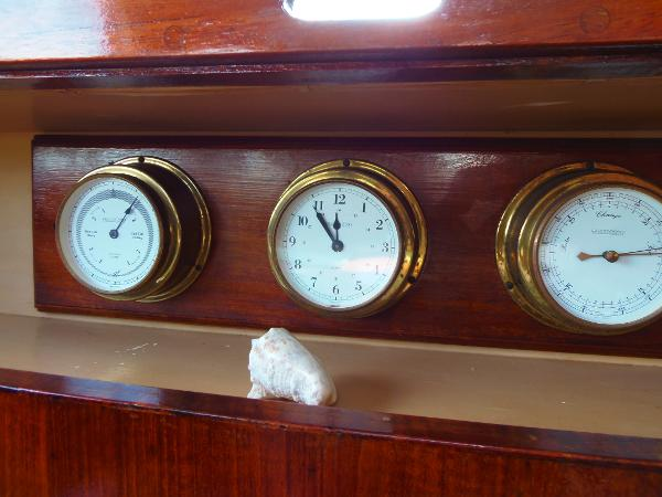 Gauges in the main salon