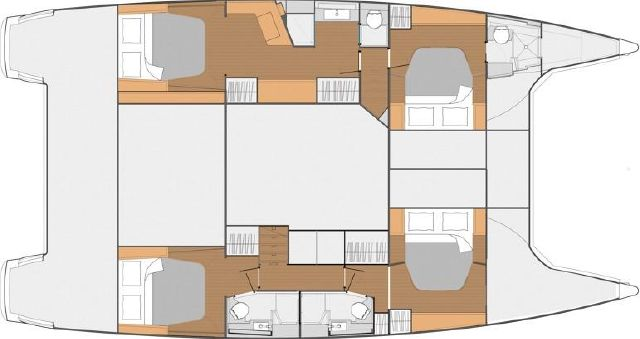 Manufacturer Provided Image: Fountaine Pajot SABA 50 Maestro Version Layout Plan