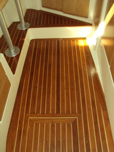 Teak and Holly Floor