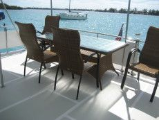 DeFever 50 Aft Deck Seating