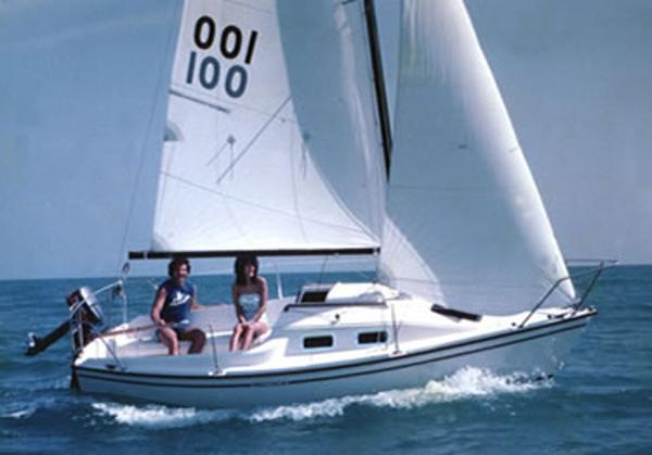 Precision 18 Under Sail