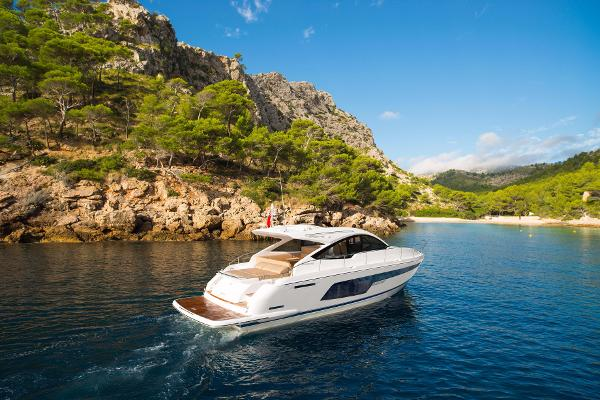 Fairline Targa 48 Open Manufacturer Provided Image: Fairline Targa 48 Open Stern